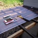 テラス屋根波板貼り