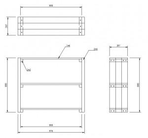DIY棚CAD図面