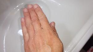 手まで撥水処理