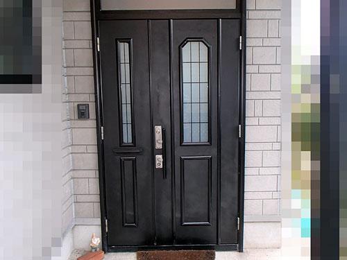 玄関ドアDIY塗装完了
