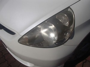 ヘッドライトの黄ばみ状況