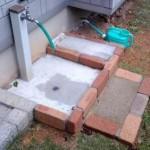 庭の手洗い場DIY