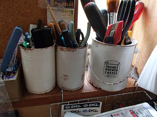 空き缶リメイク:ペン立て
