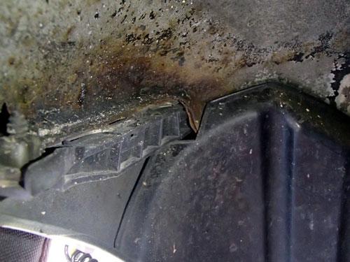 タイヤハウス錆び
