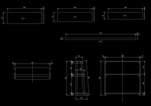 DIYアンティーク棚設計図