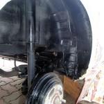 タイヤハウスアンダーコート塗装後